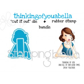 "THINKINGOFYOUabella V.2.0 ""CUT IT OUT"" DIE + RUBBER STAMP BUNDLE (save 15%)"