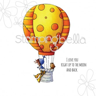 Ramona and Teddy in a BALLOON (includes sentiment)