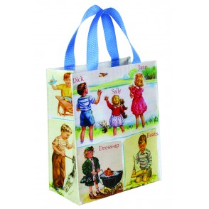 "BLUE Q HANDY TOTE ""DICK AND JANE"""