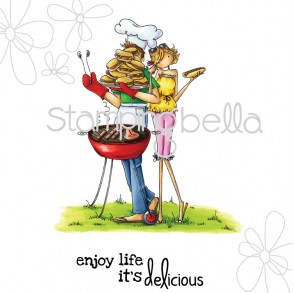 uptown couple BELLA and BARNEY have a BARBECUE (includes sentiment)