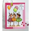 Tiny Townie BIRTHDAY PARTY RUBBER STAMP (set of 3 stamps)