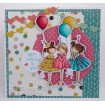 """Tiny Townie BIRTHDAY PARTY """"CUT IT OUT"""" die AND STAMP BUNDLE"""