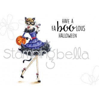 UPTOWN GIRL KITTY loves HALLOWEEN (includes 2 rubber stamps)