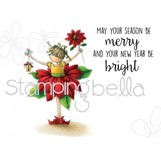 tiny townie PAMELA THE POINSETTIA (set of 2 rubber stamps)