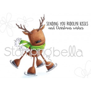 RUDOLPH the SKATING REINDEER (includes 2 rubber stamps)