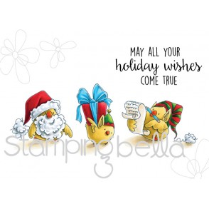 Santa Chick and his HELPERS (includes 4 rubber stamps)