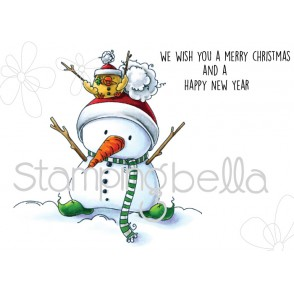 SNOWMAN with a CHICK on top (includes 2 rubber stamps)