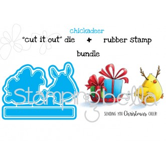 "CHICKADEER ""CUT IT OUT"" DIES + RUBBER STAMP BUNDLE (save 15%)"