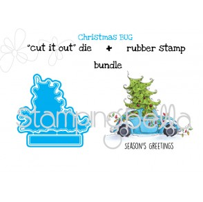 "Christmas BUG ""CUT IT OUT"" DIES +  RUBBER STAMP BUNDLE (15% off)"