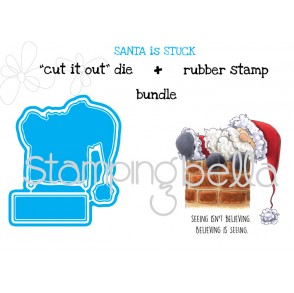 "Santa is STUCK ""CUT IT OUT DIES"" + RUBBER STAMP BUNDLE (save 15%)"