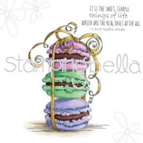 Macaron BOUQUET (includes 2 stamps)