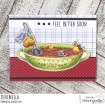 CHICK-en SOUP rubber stamp