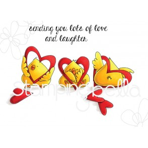HEARTY CHICKS rubber stamp