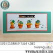 SUCCULENT chicks RUBBER STAMPS (set of 6 stamps)