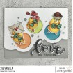 VALENTINE CHICKS rubber stamps