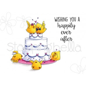 WEDDING CAKE CHICKS rubber stamps (set of 2 stamps)
