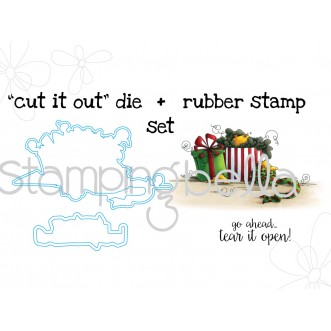 "Christmas MORNING CHICKS STAMP and ""CUT IT OUT"" BUNDLE"