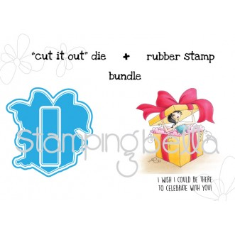 "allBOXEDUPabella V. 2.0 ""CUT IT OUT"" die + STAMP BUNDLE (save 15%!)"