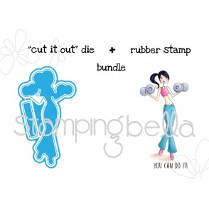 "barbella V. 2.0 ""CUT IT OUT"" DIE + RUBBER STAMP BUNDLE  (save 15%!)"