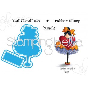 "Tiny Townie BONNIE LOVES BOWS ""CUT IT OUT DIE (2 dies)  +STAMP BUNDLE"""
