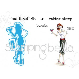 "Cosmobella V.2.0 ""CUT IT OUT"" die + RUBBER STAMP BUNDLE (save 15%)"