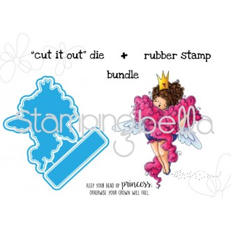 "EDNA the DIVA ""CUT IT OUT"" wafer thin die + RUBBER STAMP BUNDLE"