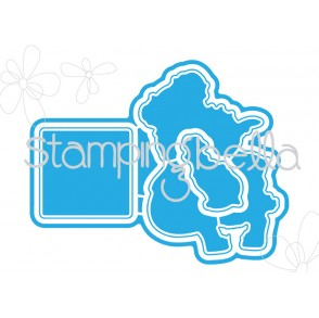 "Tiny Townie HEIDI needs a HUG ""CUT IT OUT"" (set of 3 wafer thin dies)"