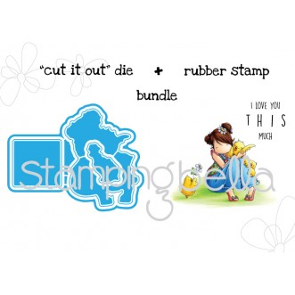 "TINY TOWNIE HEIDI NEEDS A HUG ""CUT IT OUT"" (3 DIES)  AND STAMP BUNDLE (3 STAMPS_)"