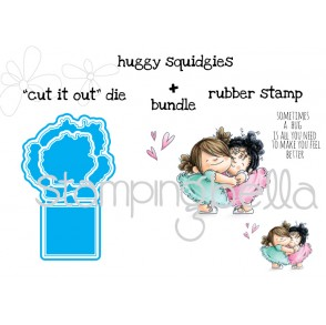 "huggy squidgies ""CUT IT OUT"" dies + RUBBER STAMP bundle (15% discount when purchased as a bundle)"