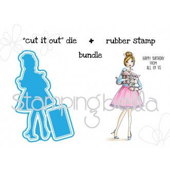 "ilovemypetsABELLA V.2.0 ""CUT IT OUT"" DIE and STAMP BUNDLE (save 15%!)"
