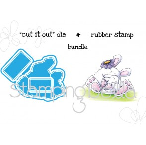 "MAMA BUNNY WOBBLE ""CUT IT OUT"" DIE + RUBBER STAMP BUNDLE (save 15%)"