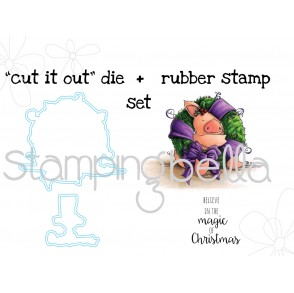 "Petunia LOVES CHRISTMAS STAMP and ""CUT IT OUT"" BUNDLE"
