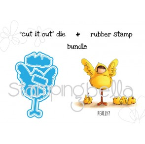"Tiny Townie PEYTON loves to PRETEND ""CUT IT OUT"" wafer thin dies + RUBBER STAMP BUNDLE"