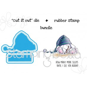 "SLEEPY bunny wobble ""CUT IT OUT"" DIE + RUBBER STAMP BUNDLE (save 15%)"
