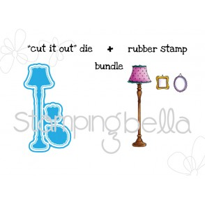 "Tiny Townie ROOM DECOR ""CUT IT OUT"" wafer thin dies +RUBBER STAMP BUNDLE"
