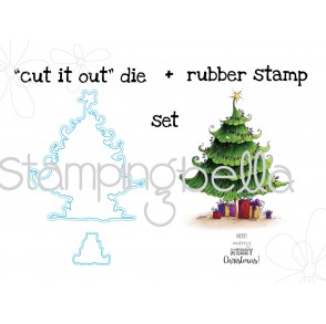 "Uptown CHRISTMAS TREE Stamp + ""CUT IT OUT"" BUNDLE"
