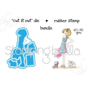 "WALKabella V. 2.0 ""CUT IT OUT"" DIE + RUBBER STAMP BUNDLE (15% discount)"