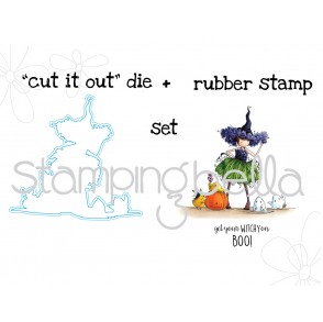"Tiny townie WILLOW THE WITCH STAMP + ""CUT IT OUT"" BUNDLE"