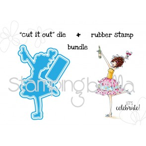 "WINObella V. 2.0 ""CUT IT OUT"" DIE + RUBBER STAMP BUNDLE (save 15%)"