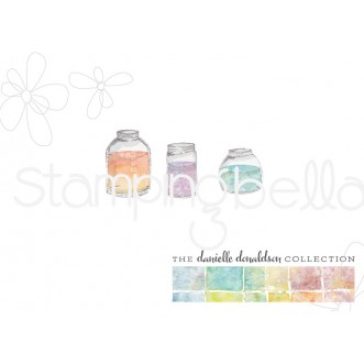 Danielle's SWATCH KIT ASSORTED JARS rubber stamps (MINI)