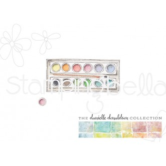 Danielle's SWATCH KIT CIRCLE PALETTE with BRUSH rubber stamp (MINI)