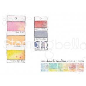 Danielle's SWATCH KIT PAINT CHIPS rubber stamps (LARGE +MINI)
