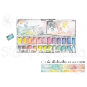 Danielle's SWATCH KIT RECTANGULAR HALF PAN PALETTE rubber stamp (LARGE)