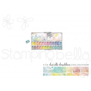 Danielle's SWATCH KIT RECTANGULAR HALF PAN rubber stamp (MINI)