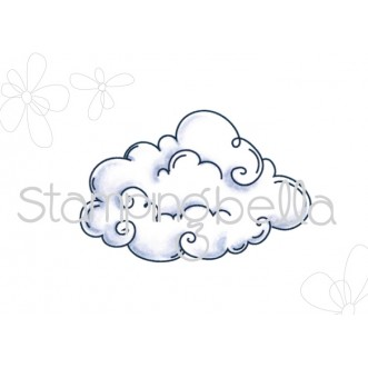 Edna BLOWS A KISS CLOUD BASE RUBBER STAMP