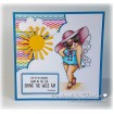 EDNA LOVES THE OCEAN rubber stamps (set of 2 rubber stamps)
