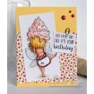 EDNA with a CUPCAKE ON TOP RUBBER STAMP (set of 2)