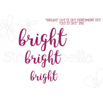 """BRIGHT"" SENTIMENT DIE SET (SET OF 3 DIES)"