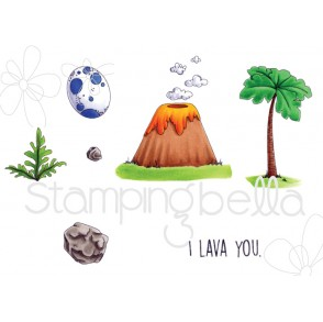 CAVE KIDS ADD ONS  STAMPS (set of 11 CLING MOUNTED rubber stamps)