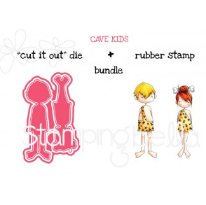 "CAVE KIDS ""CUT IT OUT"" + RUBBER STAMP BUNDLE (save 15%)"